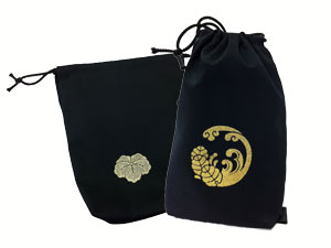 Kamon and name attached Japanese towel