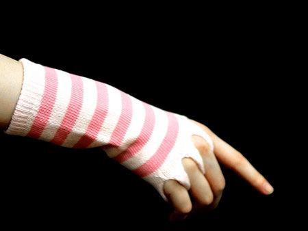 バンブー健康指ぬき手袋