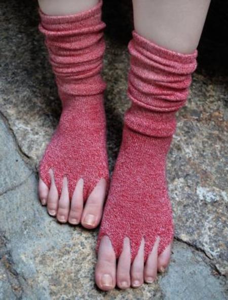 バンブー健康指ぬきハイソックス(4色)